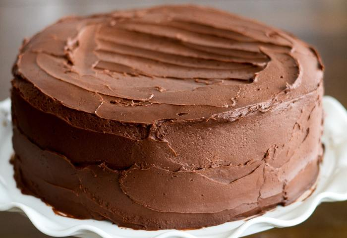 Easy Chocolate Cake With Homemade Buttercream Frosting Lil Luna