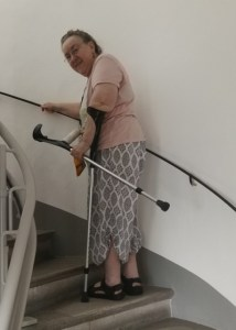 Climbing stairs after knee op