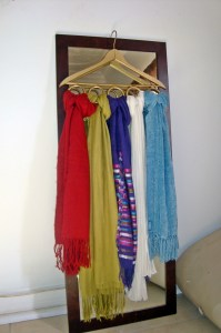 Hold up your scarves! Make a DIY scarf holder | lillyloompa