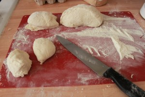 cutting dough