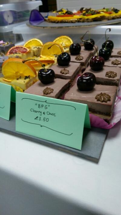 Cherry and Choc dessert at Vegfest UK Brighton