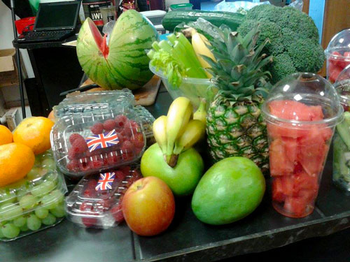Various fruit ready for smoothies