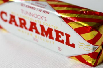 Caramel bar as unconventional morning sickness cure. Week 9 - Nausea - The Bump Diaries