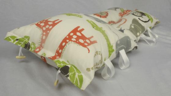Bold Animal print nursing pillow unfolded