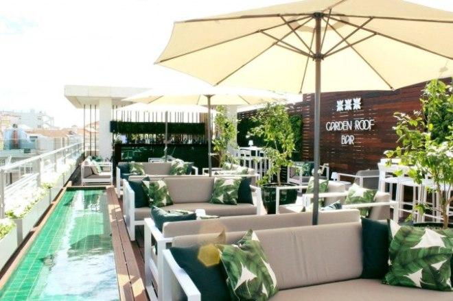 terrazza bar con vista lisbona