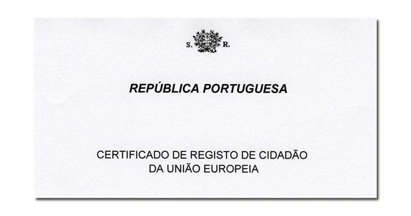 REGISTO DE CIDADÃO DA UNIÃO EUROPEIA