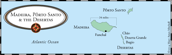 mappa isole arcipelago madeira