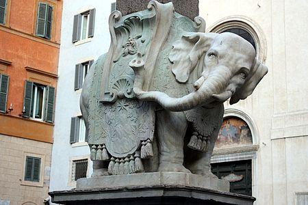 roma bernini elefante portoghese