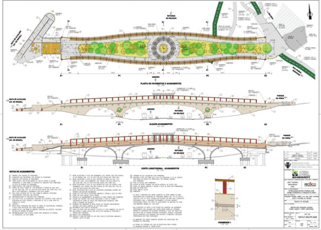 ponte ciclopedonale con giardino