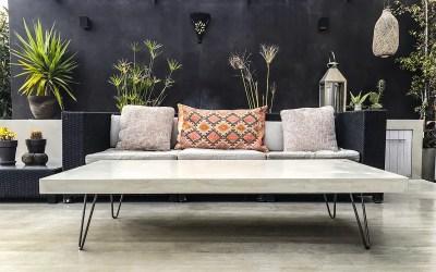 Julien Mathieu et l'art du meuble en béton ciré