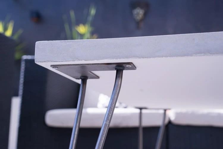 table basse béton ciré