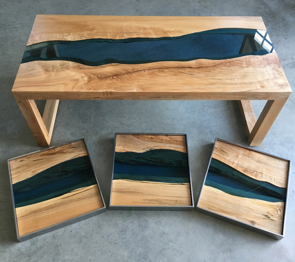 Meuble Avec Resine Epoxy table rivi�re ou table epoxy : l'incroyable river table - lilm