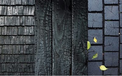 Le bois brûlé : la tendance venue du Japon