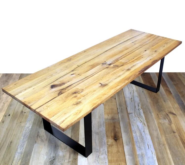 Table en vieux plancher chêne LILM
