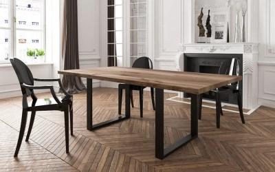 Table à manger industrielle en bois et métal : les différents styles possibles