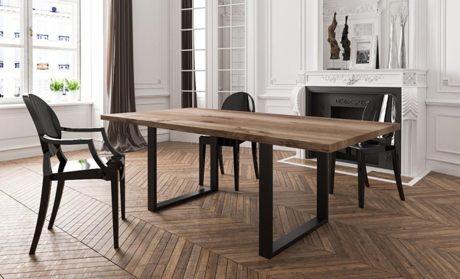Table A Manger Industrielle Extensible.Table A Manger Industrielle En Bois Et Metal Les