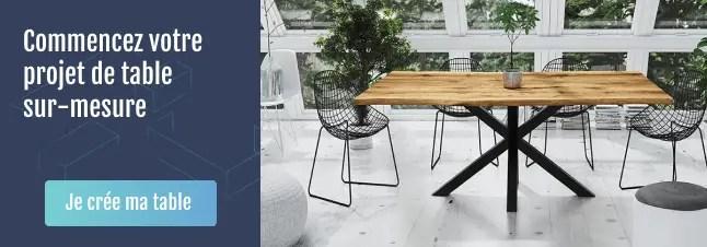 Projet table en bois sur-mesure