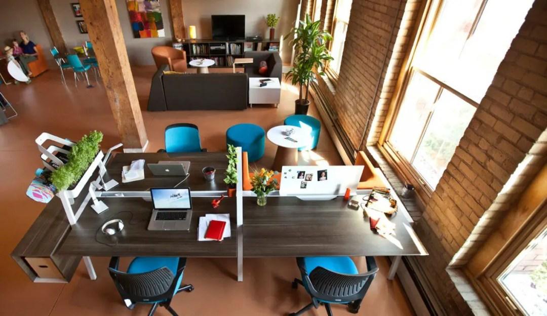 aménagement de bureau style loft new yorkais