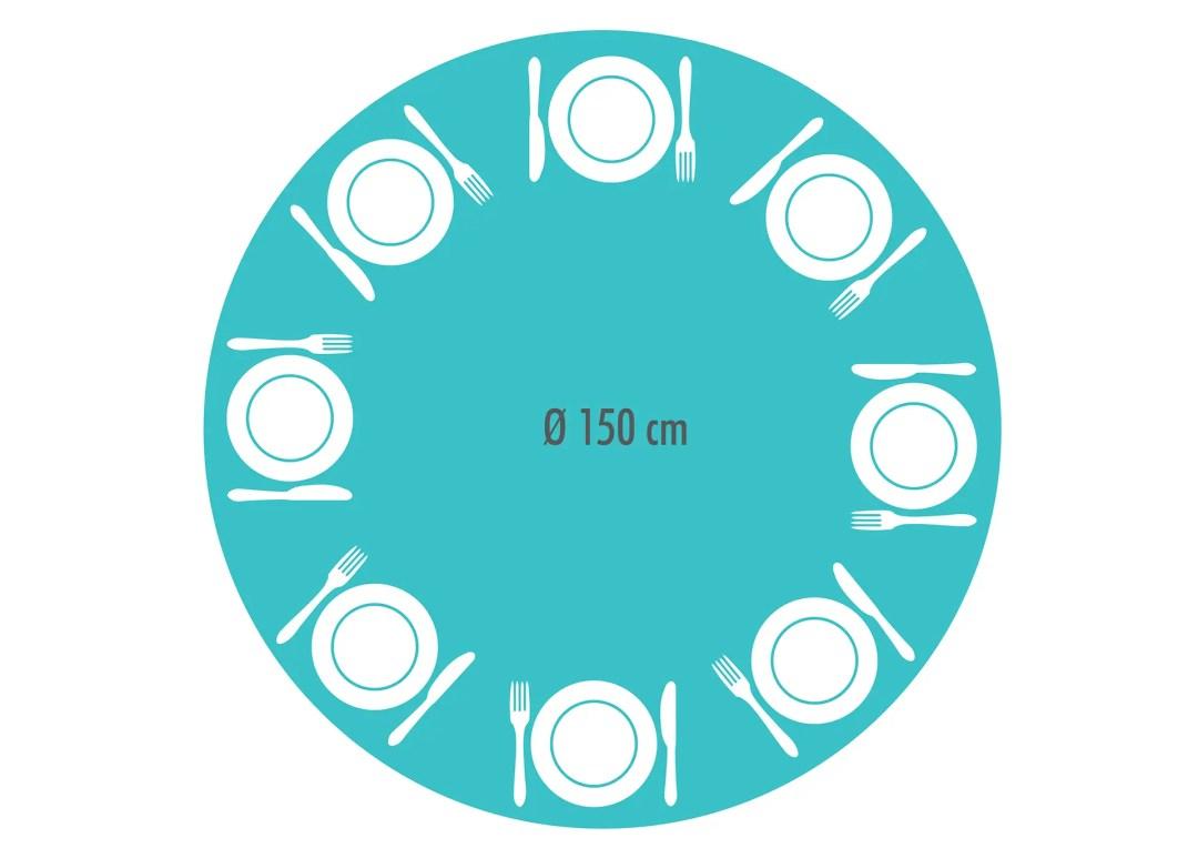 dimensions pour une table à manger ronde