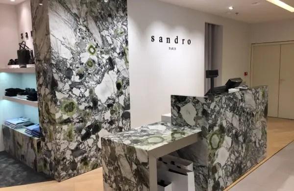 Magasin Sandro en Onyx marbre