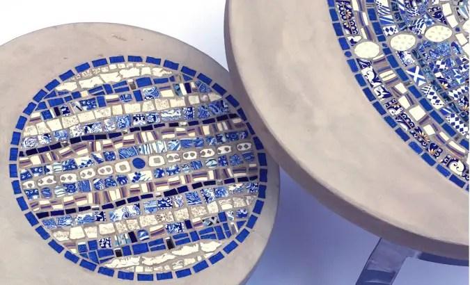 Table basse gigogne créée par notre talentueuse artisane : Vanina Mercury