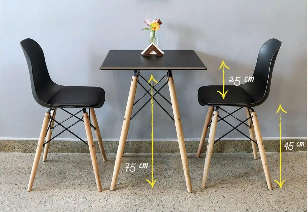 Hauteur de chaise pour table à manger