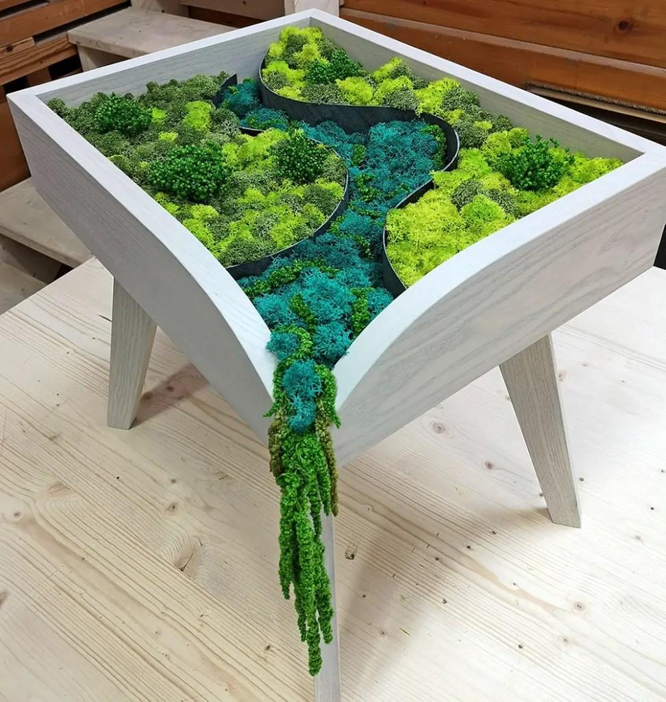 Table basse en végétal stabilisé