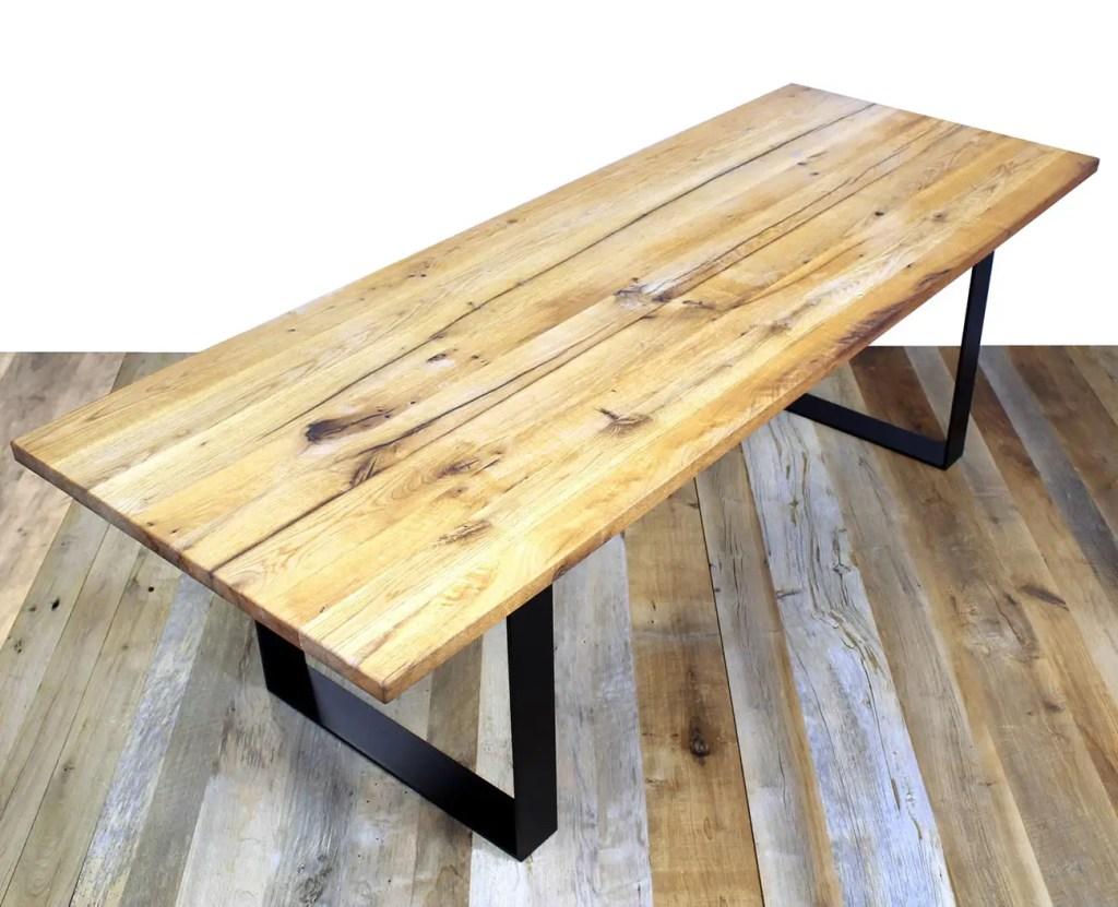 Table bois rustique en chêne vieilli