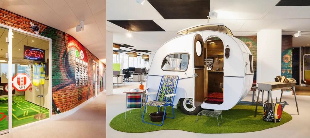 déco des bureaux Google Amsterdam