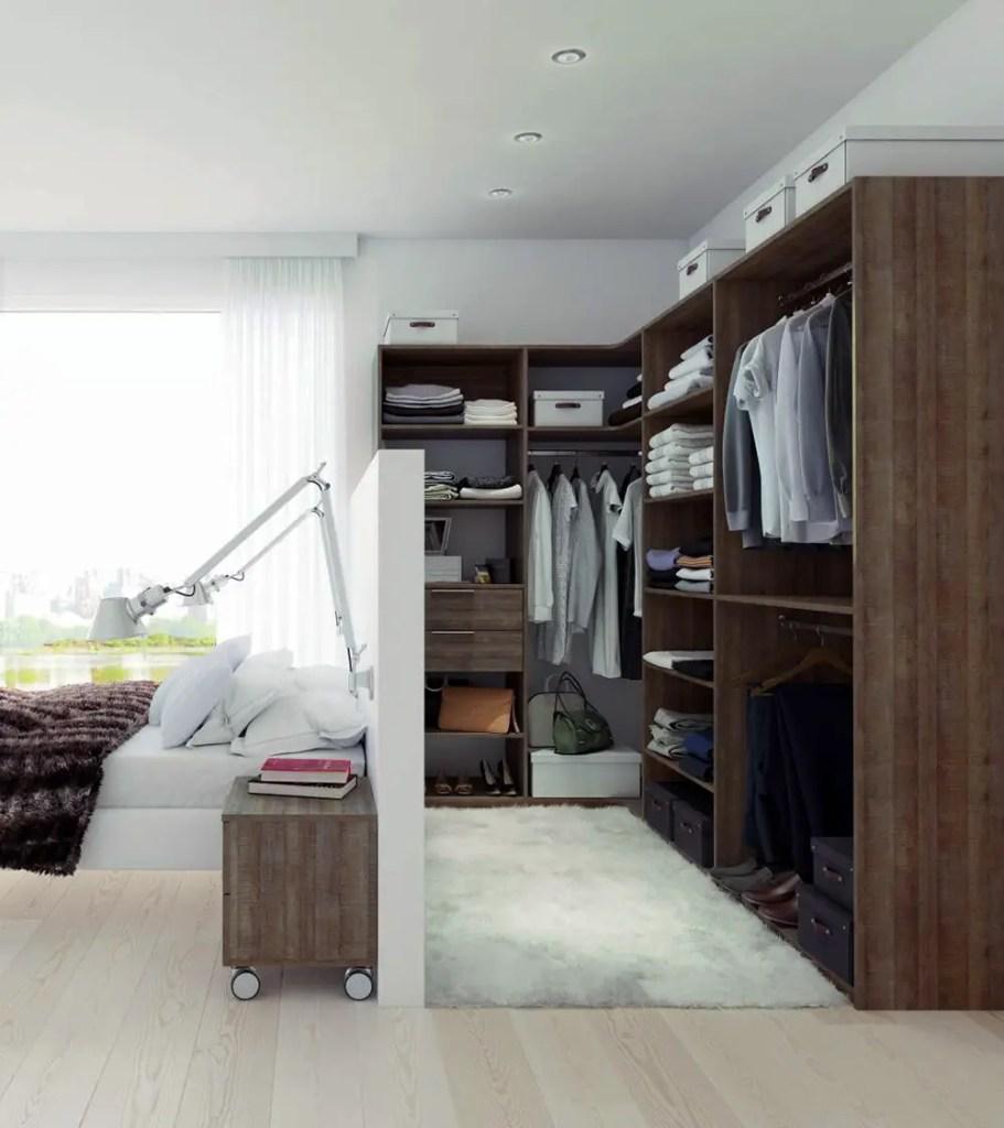 Chambre avec lit séparé et dressing sur-mesure