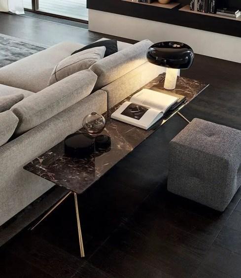 table en marbre effet console