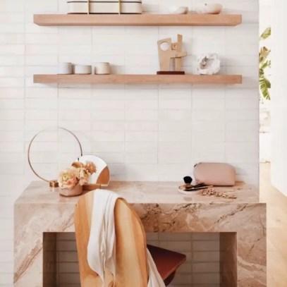 table bureau en marbre rose