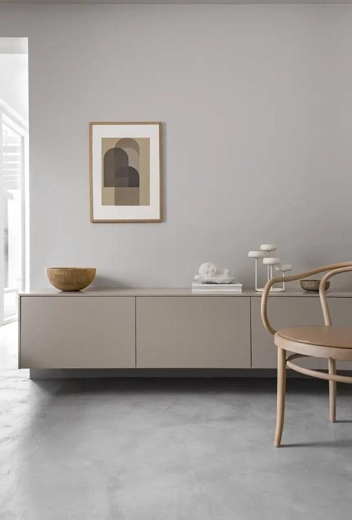 intérieur style minimaliste et fonctionnel