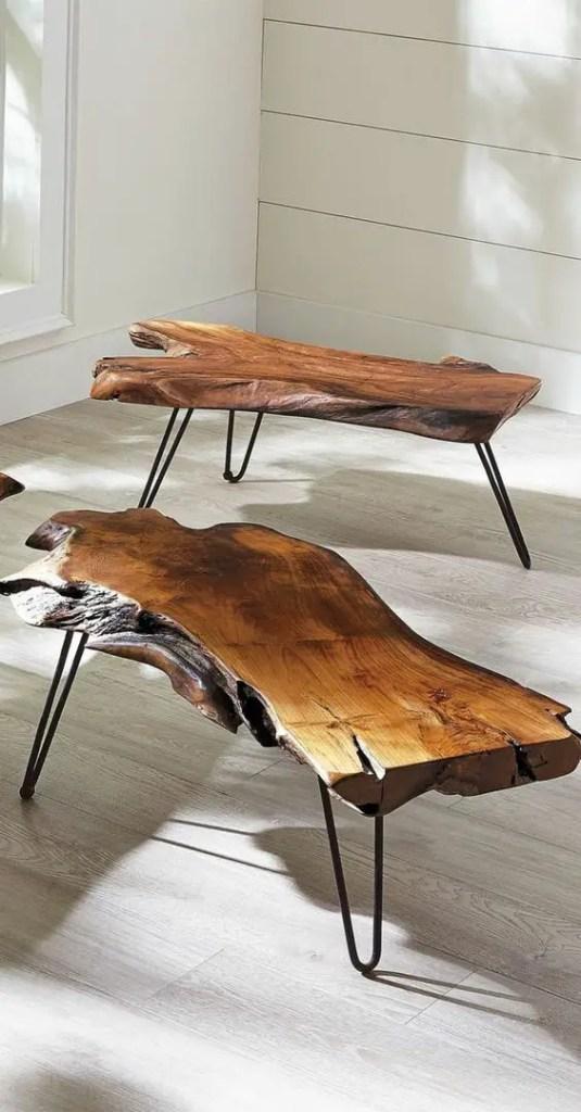 table basse en bois protégée par de l'huile de lin