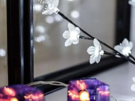 verrière avec décoration lumineuse