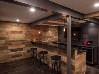 comptoir de bar en bois pour cuisine