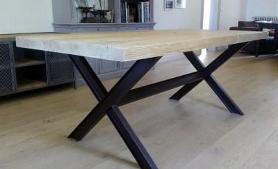 Table à manger plancher de wagon