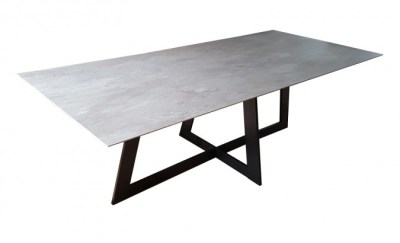 Table rectangle en céramique artisan