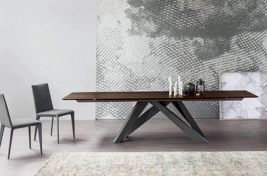 table en bois extensible pied en métal