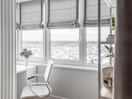 3 fenêtres de chambre en PVC blanc