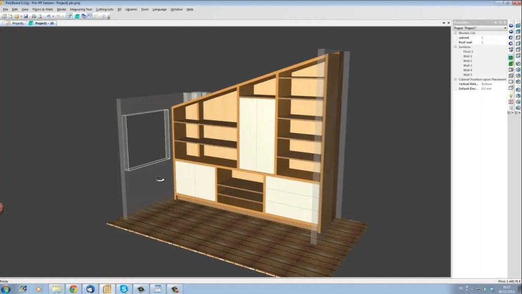 logiciel menuiserie 3D gratuit polyboard