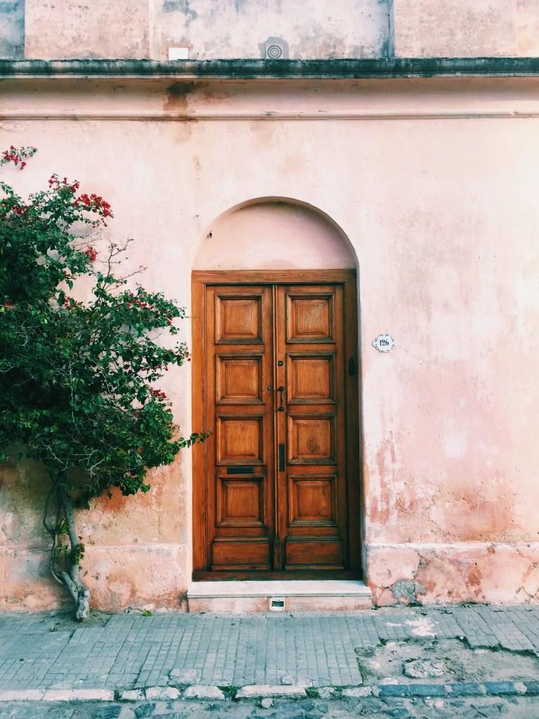 porte en bois ancienne et élégante