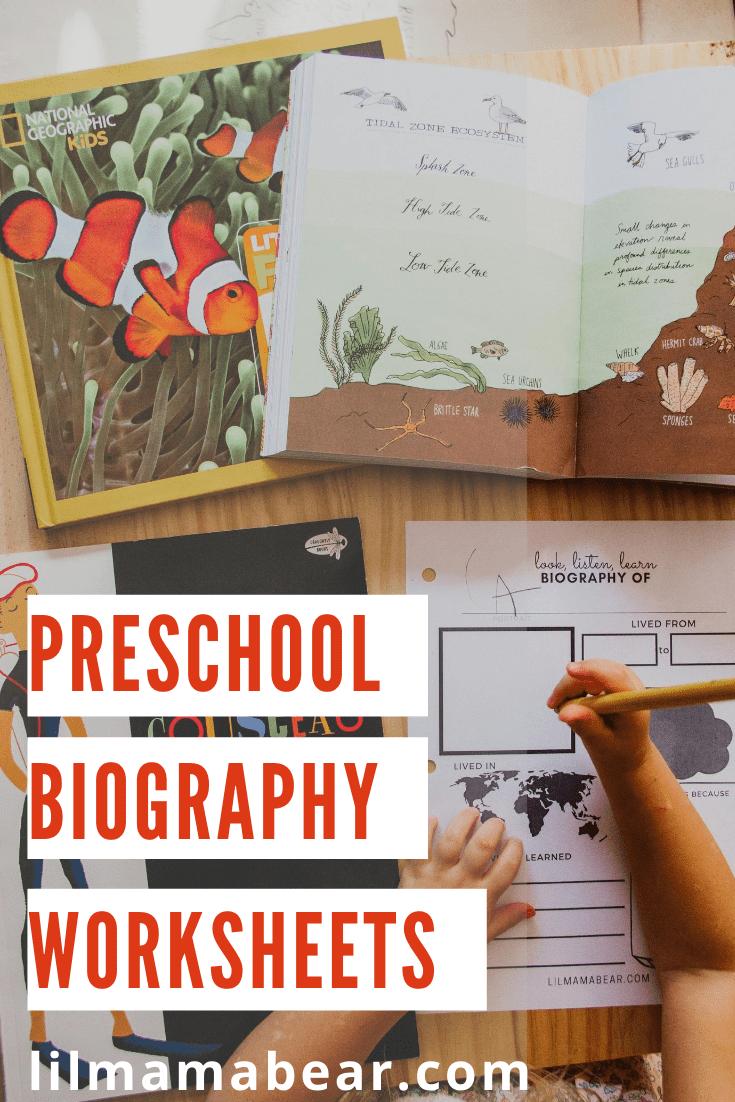 medium resolution of Printable Biography Worksheet: Preschool Social Studies Activity - Lil Mama  Bear Blog