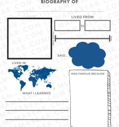 Printable Biography Worksheet: Preschool Social Studies Activity - Lil Mama  Bear Blog [ 2000 x 1545 Pixel ]