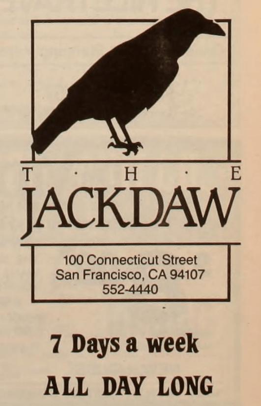 Jackdaw Bar Ad
