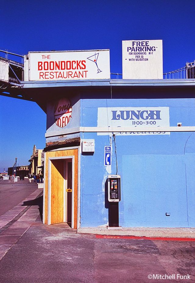 Boondock's Restaurant on Pier 30 in SF CA - pic by Mitchell Funk