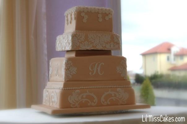 Stencil Wedding Cake