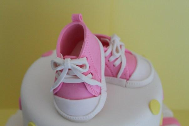 Gum Paste Baby Sneakers