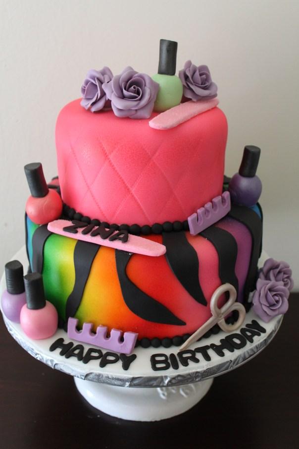 manicure cake