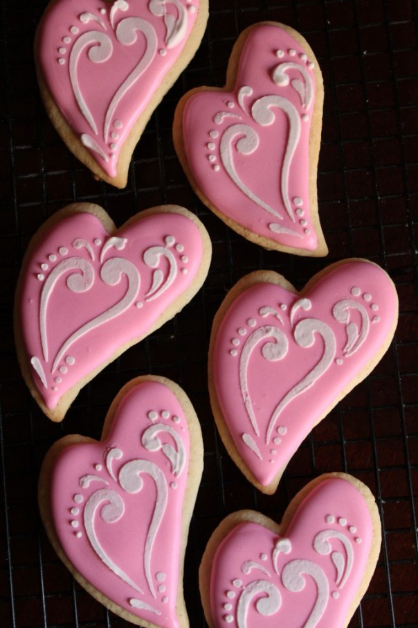 Whimsical Heart Cookies